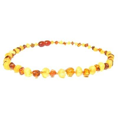 The Amber Monkey The Amber Monkey 12-13 in. Amber Teething Necklace - Pop Clasp - Multicolor