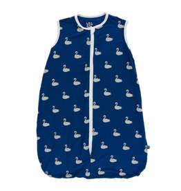 KicKee Pants KicKee Pants Print Lightweight Sleeping Bag- Navy Queen's Swans