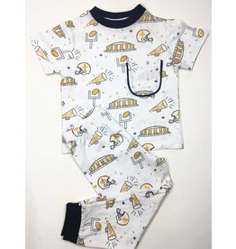 Nola Tawk Saints Black & Gold Organic Toddler PJ's