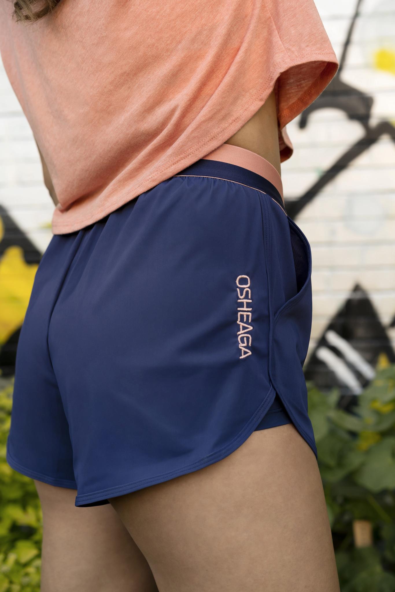 Patriot Blue & Coral Running Shorts