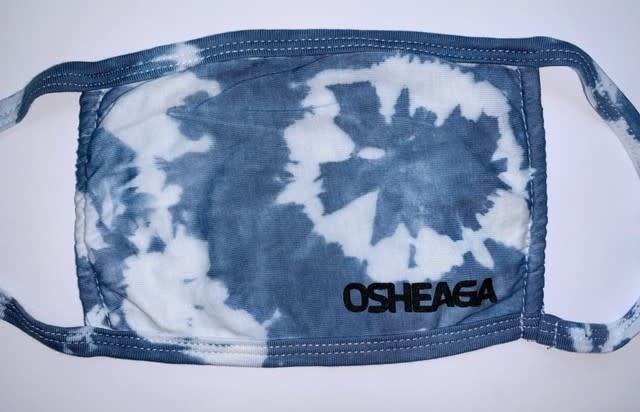 Masque tie-dye bleu