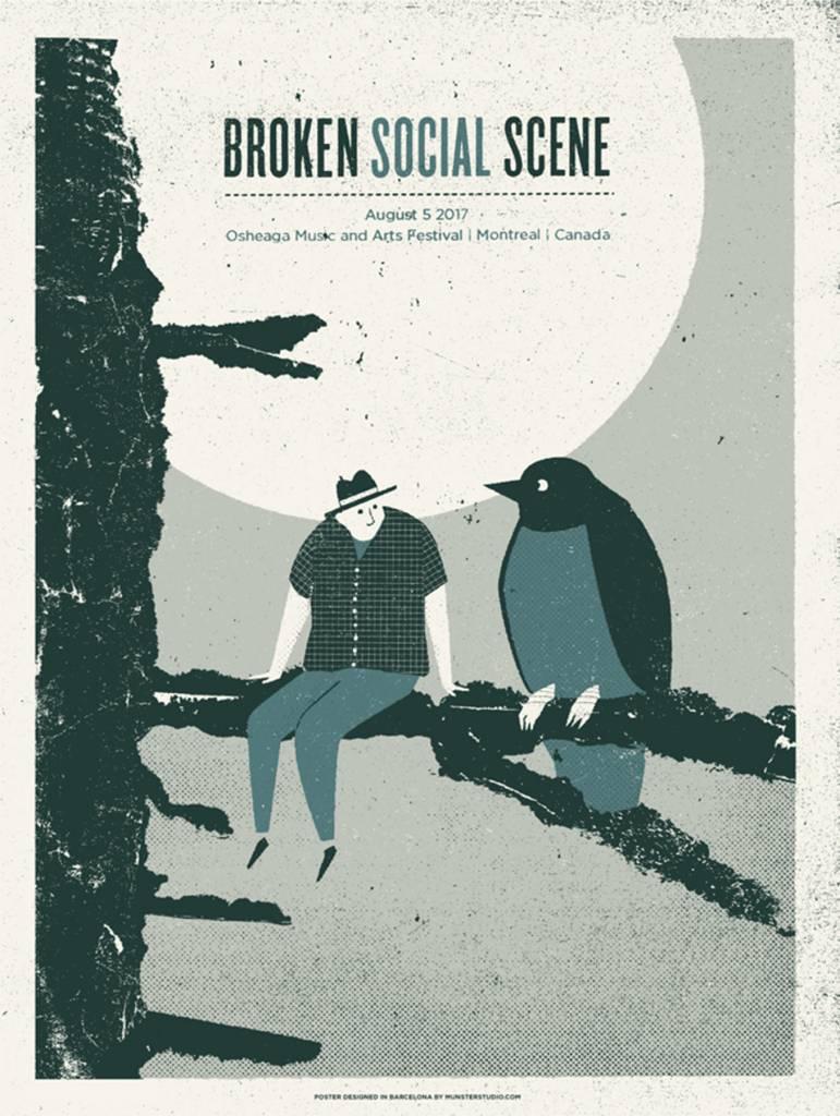 Musique sur papier SERIGRAPHIE BROKEN SOCIAL SCENE