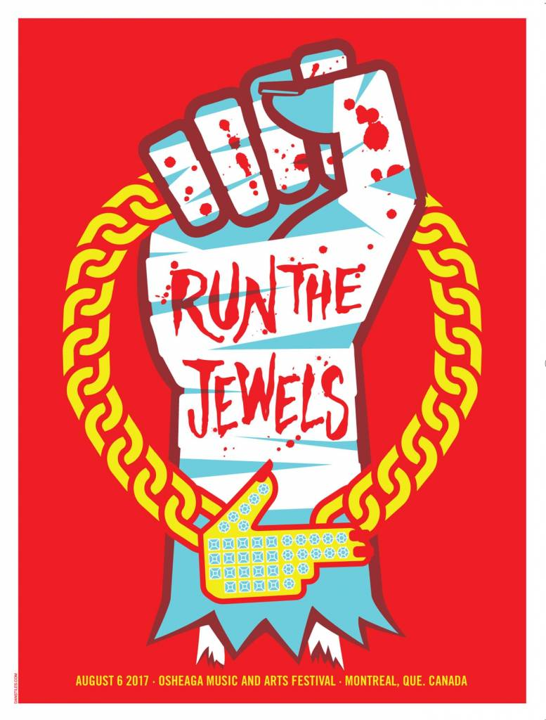 Musique sur papier SCREEN PRINT POSTER RUN THE JEWELS