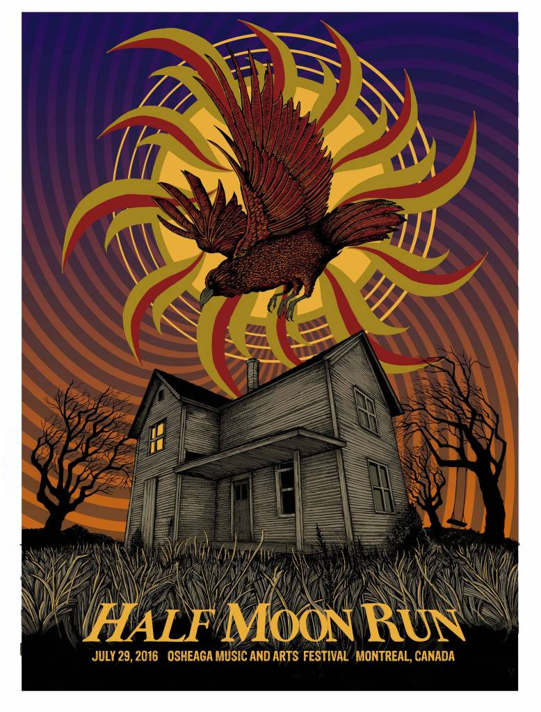SERIGRAPHIE HALF MOON RUN