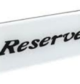 "American Metalcraft ""Reserved"" Sign"