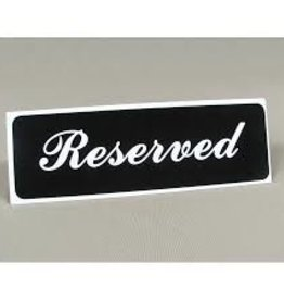 "Vollrath ""Reserved"" Table Tent"