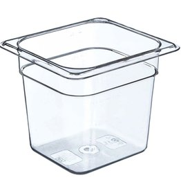 """Thunder Group Food Storage Container, 1/6 Size, 6"""" Deep"""