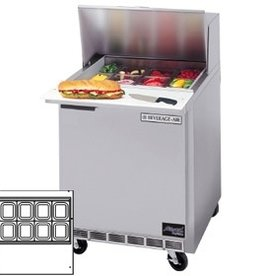 "Beverage Air Sandwich Unit, 1 Section, 27"", 7.3 cu.ft."