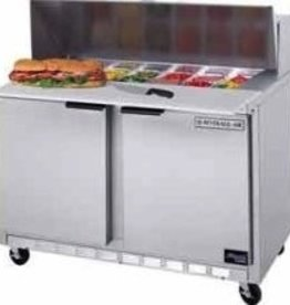 "Beverage Air Sandwich Unit, 2 Section, 48"", 13.9 cu.ft."