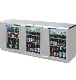 "Beverage Air Backbar Refrigerator, 94""x37.25"", Glass Doors"