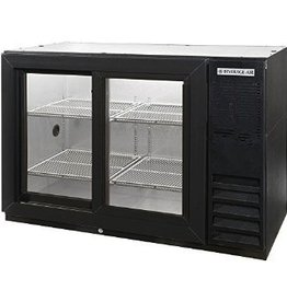 "Beverage Air Pass-Thru Backbar Refrigerator, 48""x34"", Sliding GLass Doors"