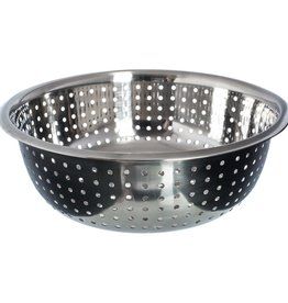 """Thunder Group Chinese Colander, 11"""" Dia, 4.5mm Holes"""