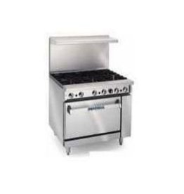 """Imperial Range, (4) Burners, 18"""" Grates, (1) 26-1/2"""" Convection Oven, 36"""""""