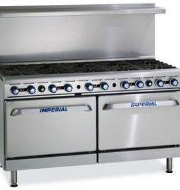 "Imperial Range, (10) Burner, (2) 26-1/2"" W Ovens, 60"""