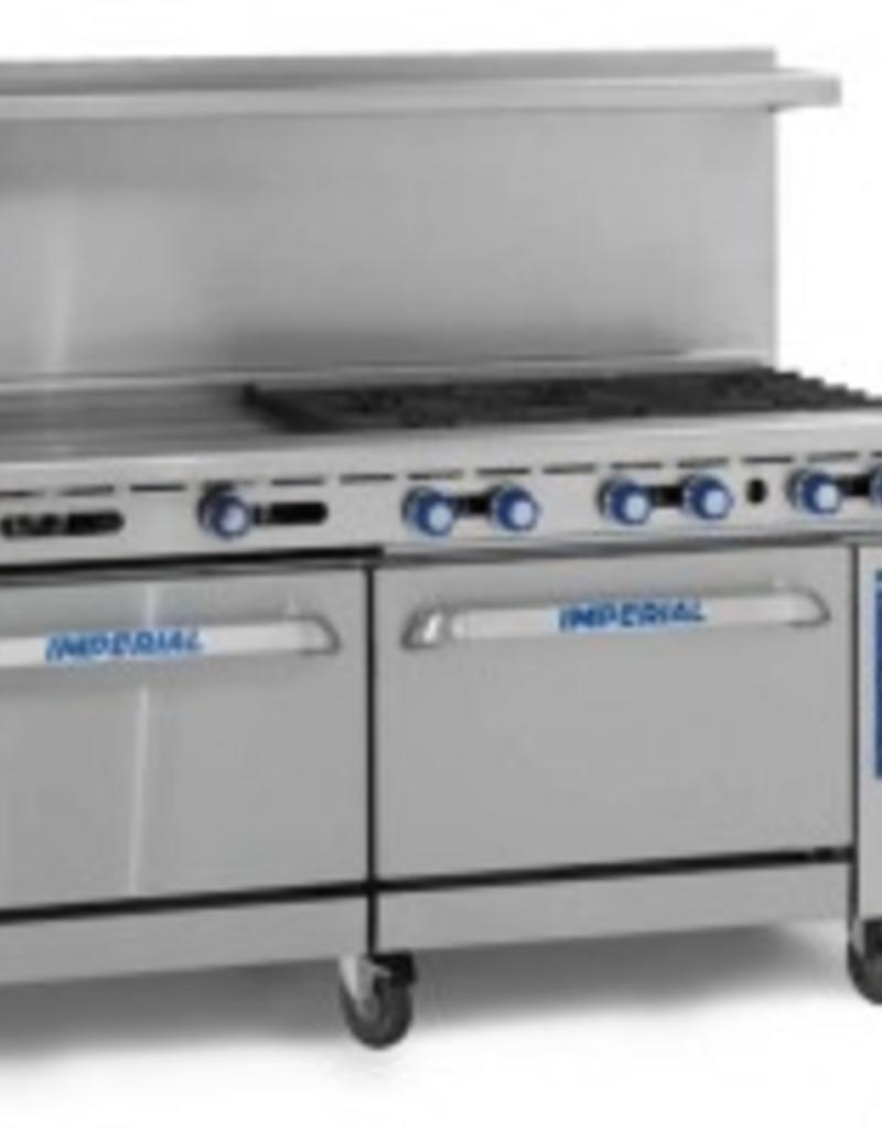 "Imperial Range, (2) Burners, 60"" Griddle, (2) Conv. Ovens, 72"""
