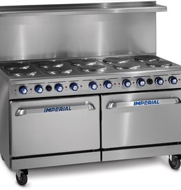 """Imperial Electric Range, (10) Plates, (2) Ovens, 60"""""""