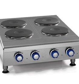 "Imperial Countertop Electric Hotplate, (4) Burners, 48""W"