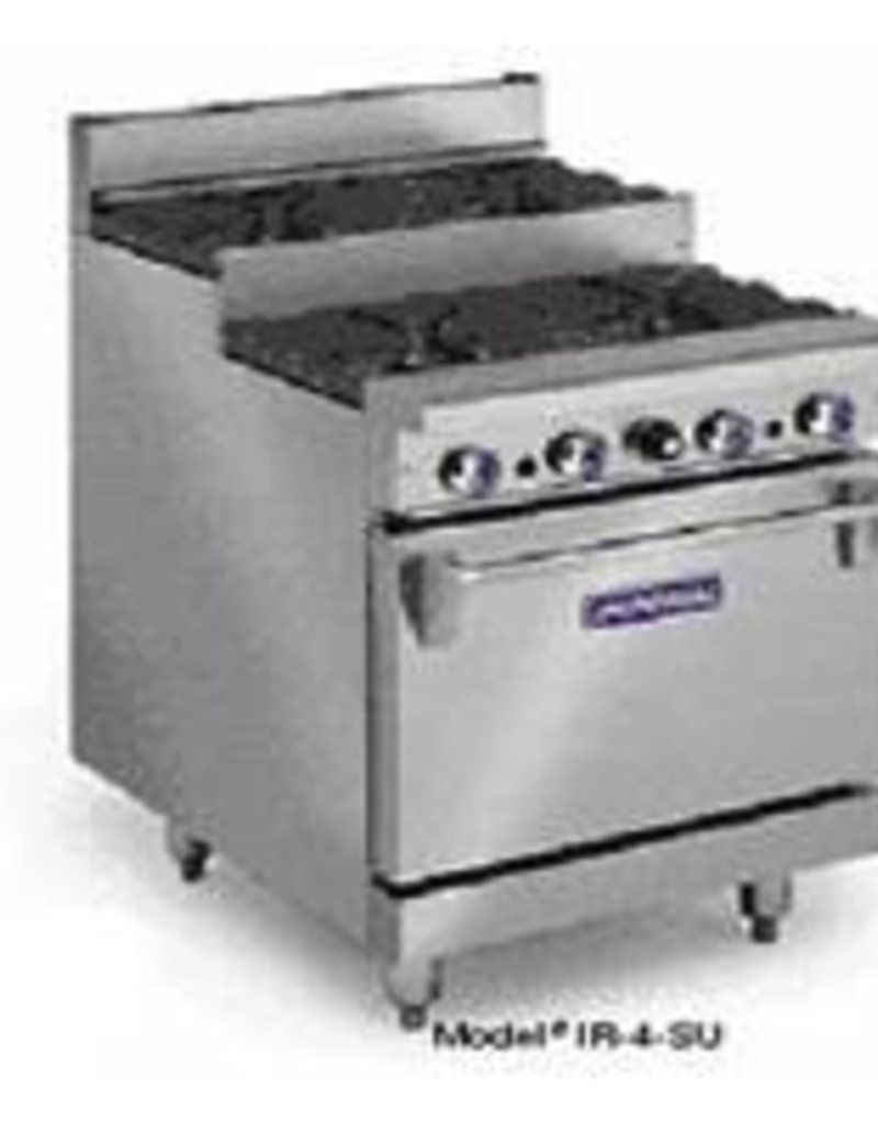 Imperial Range, (12) Step-up Burners, (1) Conv. Oven, (1) Cabinet Base, 72""