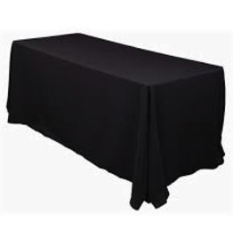 "Fortune Rect. Table Cloth, Black, 40"" x 58"""