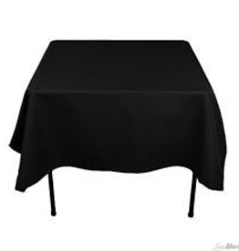 "Fortune Square Table Cloth, Black, 40"" x 40"""