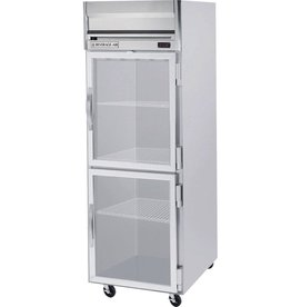 Beverage Air Reach-In Refrigerator, 1 Section, Glass Doors, 24 cu.ft.