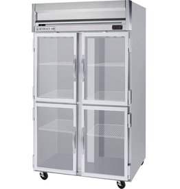 Beverage Air Reach-In Refrigerator, 2 Section, Glass Doors, 49 cu.ft.
