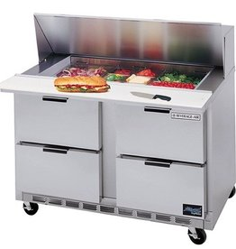 "Beverage Air Sandwich Unit, 4 Drawer, 16 Pan, 60"", 17.1 cu. ft."