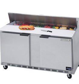 "Beverage Air Sandwich Unit, 2 Sect., 12 Pan, 60"", 17.1 cu.ft"
