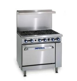 """Imperial Range, 6 Burners, Convection Oven, 36"""" x 31-1/4"""" x 36"""""""
