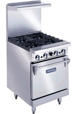 """Imperial Range, (4) Burners, (1) 20""""W Oven, 56.49""""Wide"""