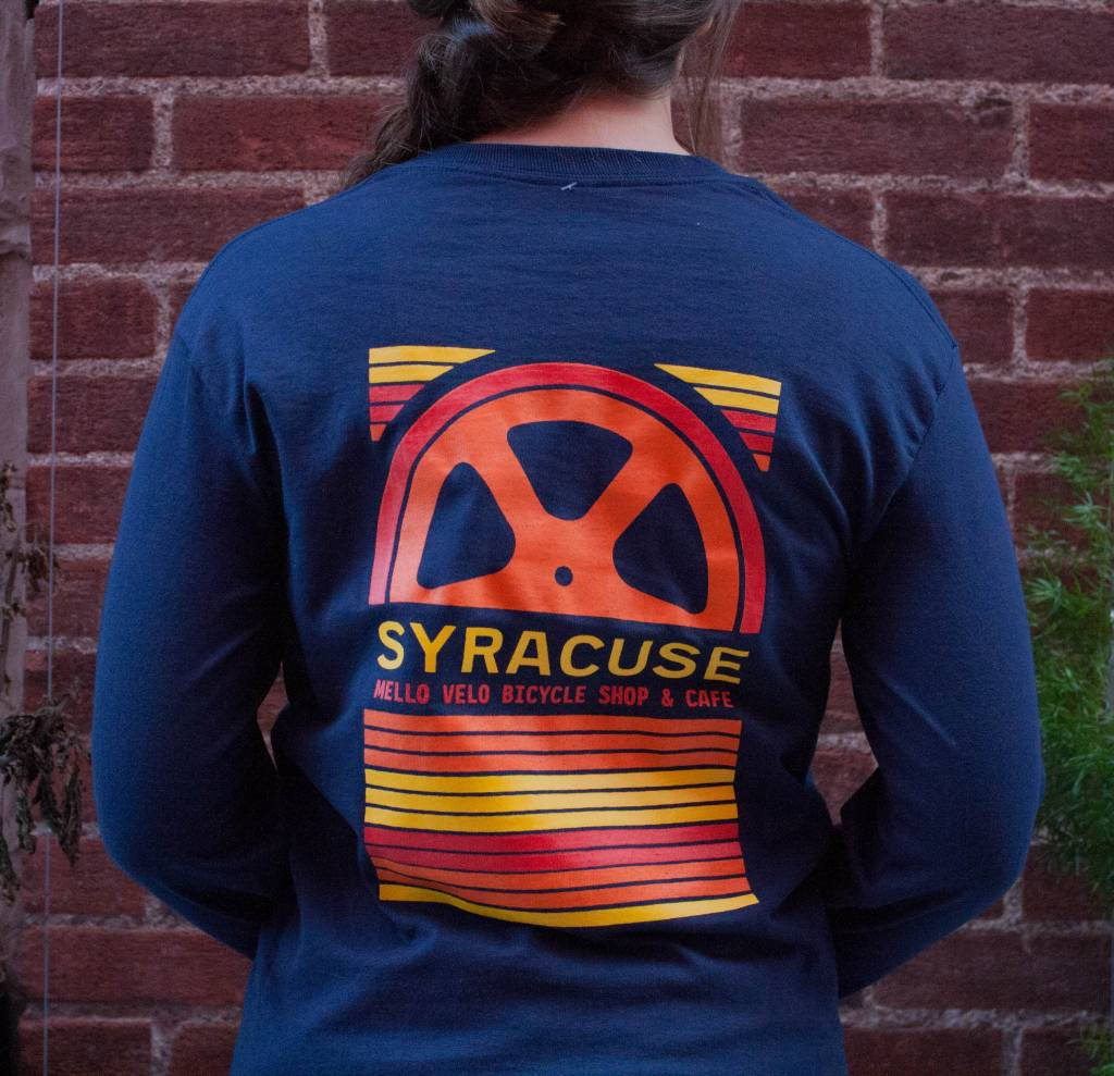 Mello Velo Ls Syracuse T Shirt Mello Velo Bicycle Shop