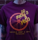 Mello Velo Wheel T-shirt Maroon