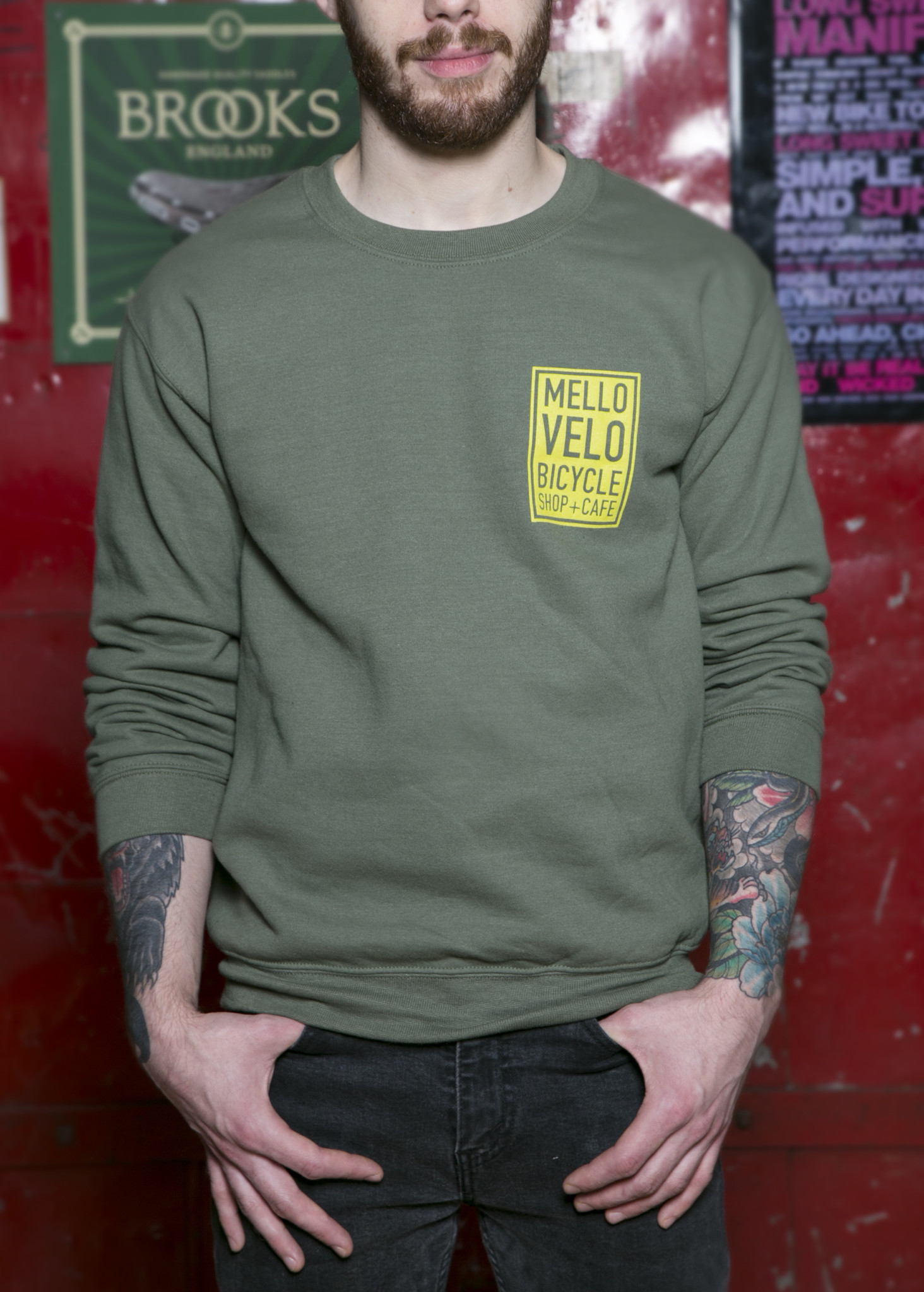 Mello Velo Green Crewneck Sweatshirt