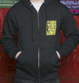 Mello Velo Zip-up Hoodie Black