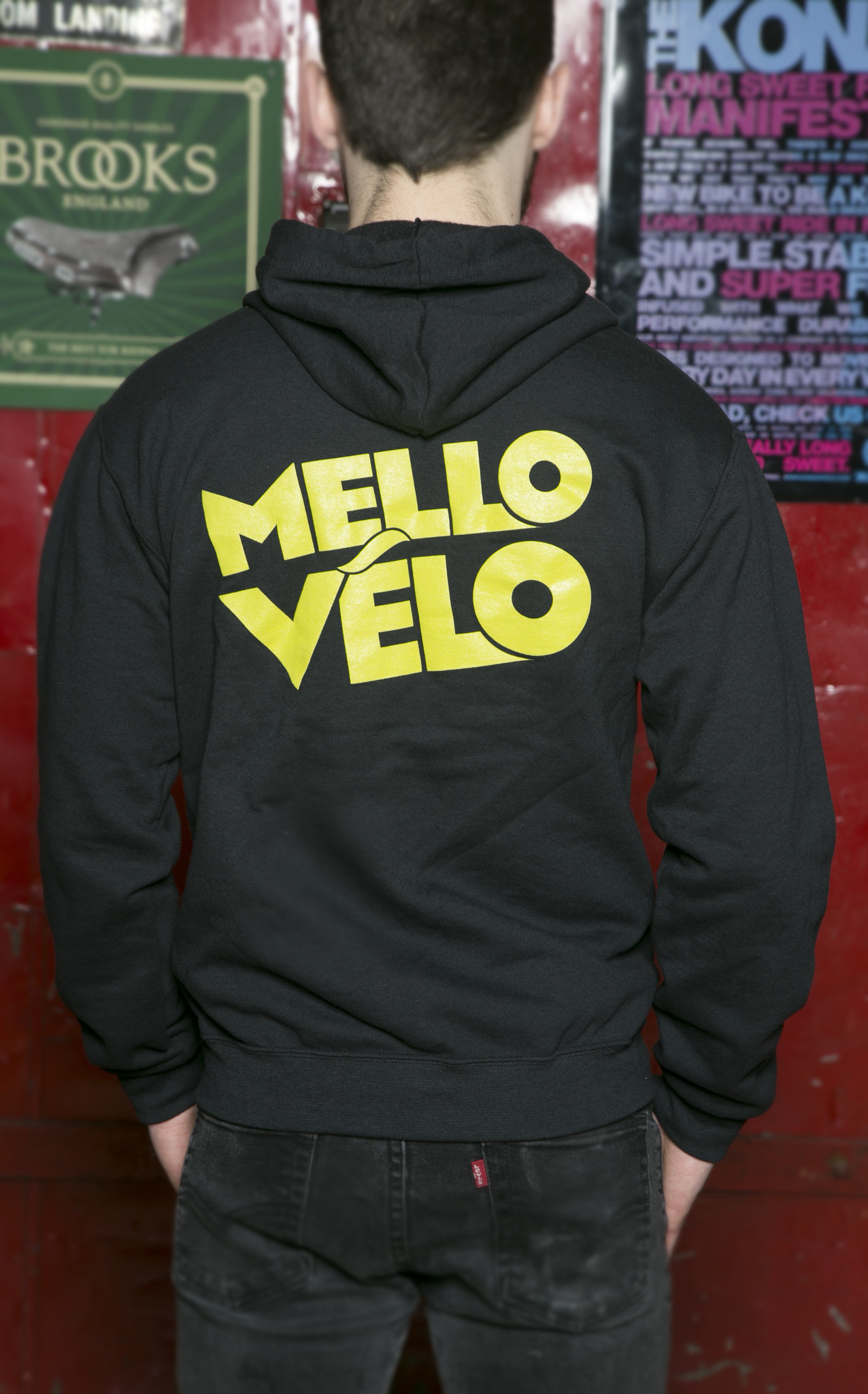 Mello Velo Zip-up Hoodie Black