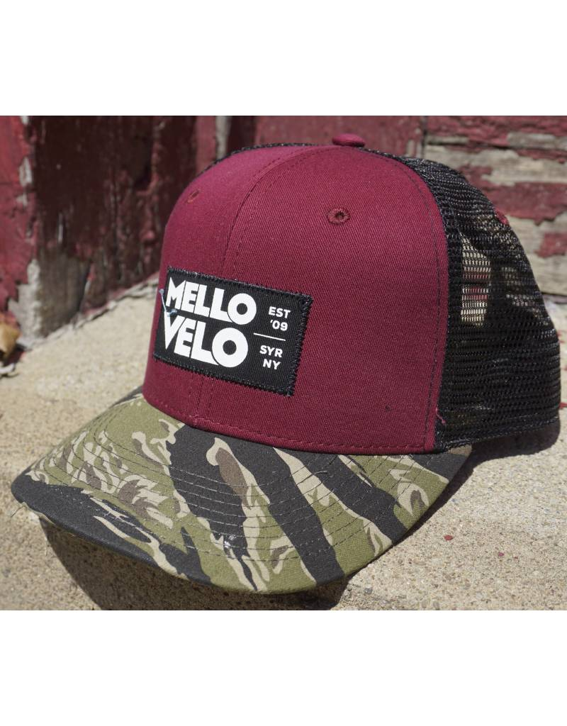 4ca270ab6528d Mello Velo Printed Label Snapback Hat - Mello Velo Bicycle Shop