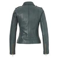 Leather bikerjacket