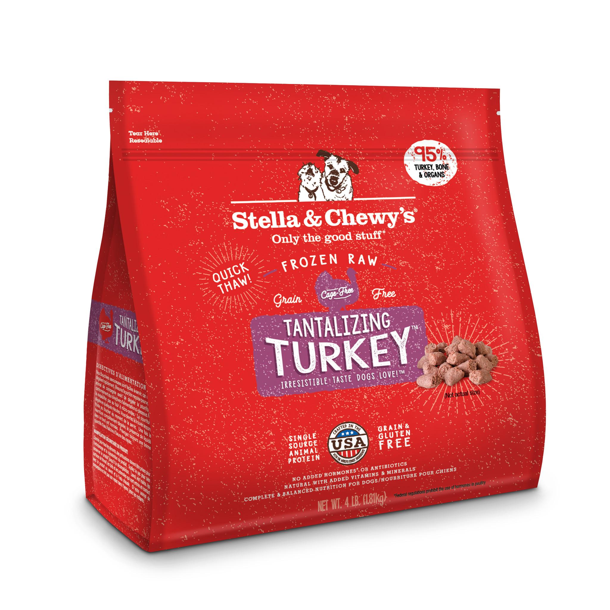 Stella & Chewys Stella & Chewy's Dog Raw Turkey Morsels 4lb