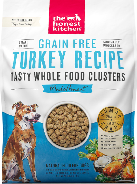 The Honest Kitchen Honest Kitchen Whole Food Clusters Turkey 20lb