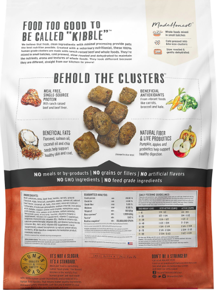 The Honest Kitchen Honest Kitchen Whole Food Clusters Beef 5lb