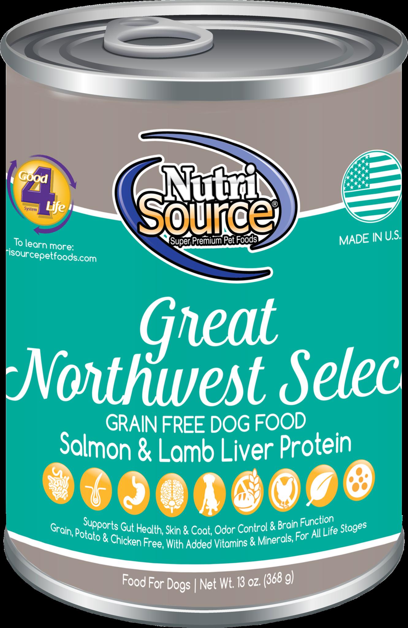 Nutrisource Nutrisource Grain Free Great NorthWest Can 13oz case of 12