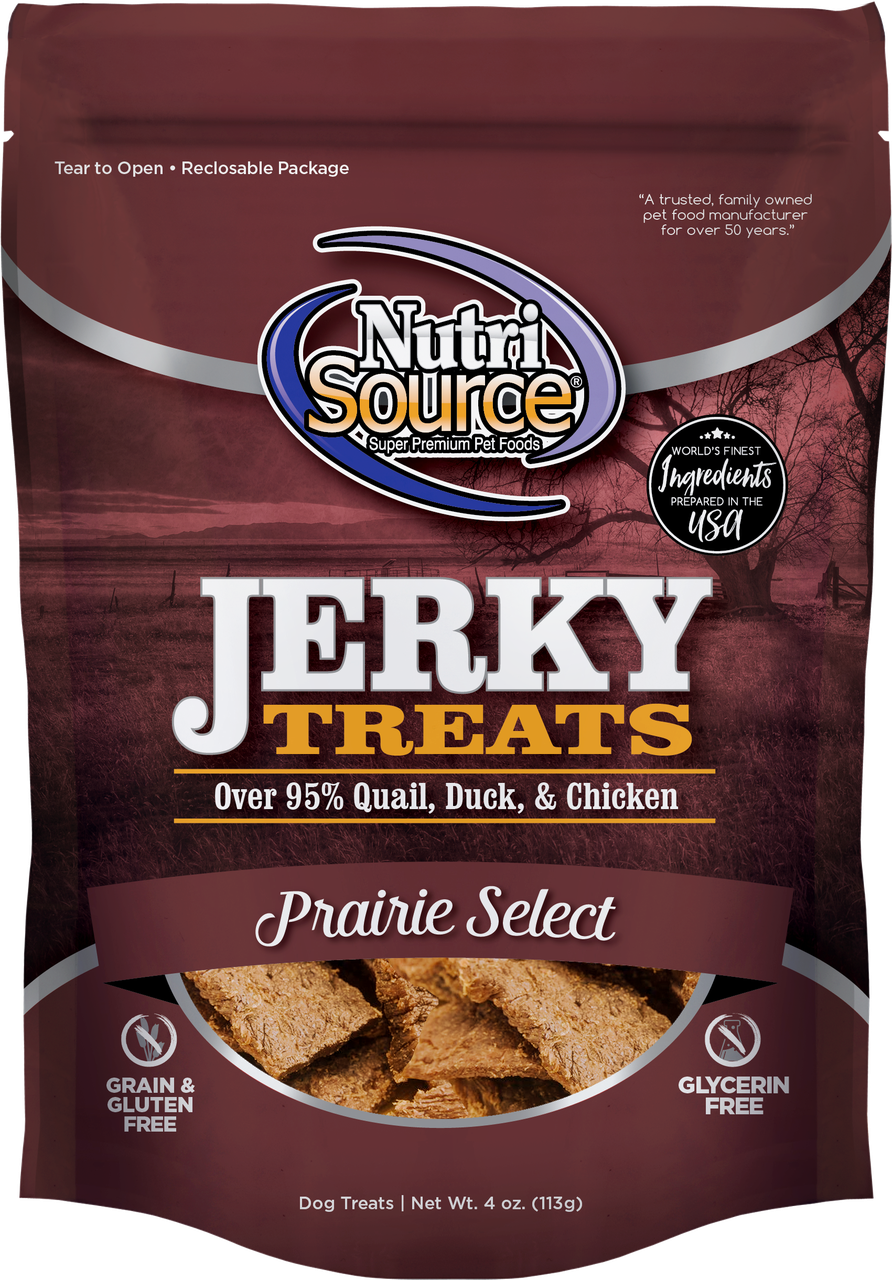 Nutrisource Nutrisource Jerky Prairie Dog Treat 4oz