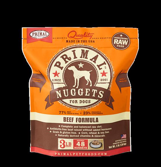 Primal Primal Raw Dog Beef 3lb
