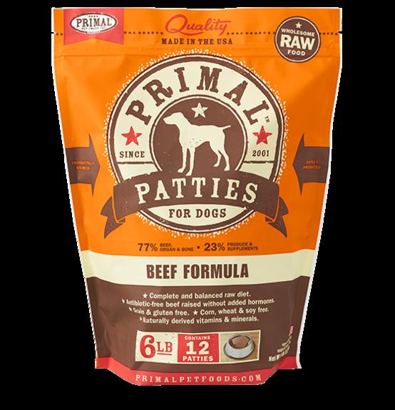 Primal Primal Raw Dog Beef 6lb