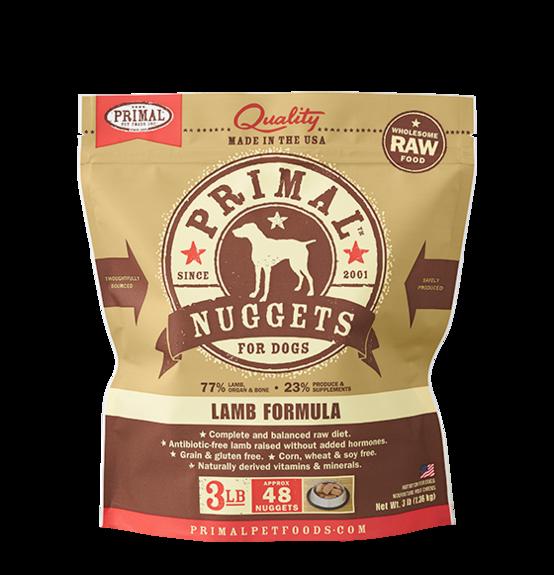 Primal Primal Raw Dog Lamb 3lb