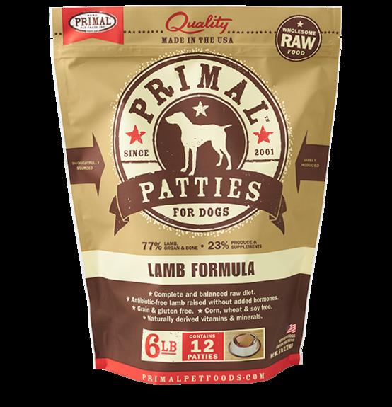 Primal Primal Raw Dog Lamb 6lb