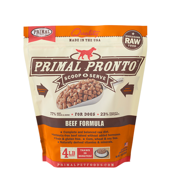 Primal Primal Raw Dog Pronto Beef 4lb