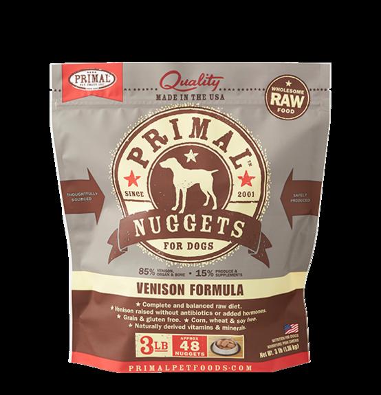Primal Primal Raw Dog Venison 3lb