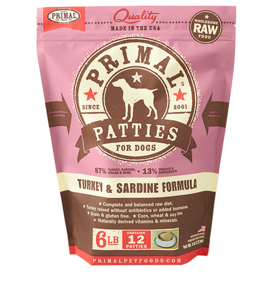 Primal Primal Raw Dog Turkey & Sardine 6lb