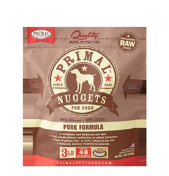 Primal Primal Raw Dog Pork 3lb